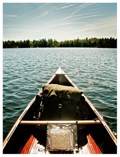 This could be me, paddling my canoe at my lake cottage.  There is no greater serenity or place I'd rather be.  I love boats.  I love water.  I have many boats of the non-motorized variety.  There is nothing, absolutely nothing, more worth doing than simply messing about in boats.  This is my favorite pin on my board, not surprisingly, called:  BOAT