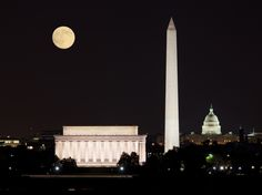 Tour the monuments at night, National Mall, Washington, D.C.