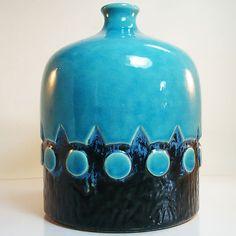 West German Pottery Vase • Jasba