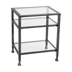 Home Decorators Collection Metal Rectangle End Table-CK8772 - The Home Depot