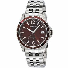 Accurist - Men\'s Stainless Steel Brown Dial Watch - MB923BR  RRP: £60.00 Online price: £54.00 You Save: £6.00 (10%)  www.lingraywatches.co.uk