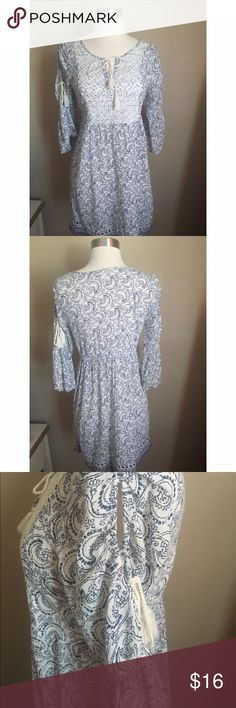 Boho Cold Shoulder Dress Adorable Blue and cream boho dress. Size small juniors. Smoke free environment. No rips or stains. Red Camel brand. Red Camel Dresses
