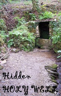 St Mawes Holy Well, St Just in Roseland, Cornwall. Entrance path to the Holy Well. Celtic Crosses, St Just, Cornwall England, Places Of Interest, Wishing Well, Caves, Folklore, Wells, Magick