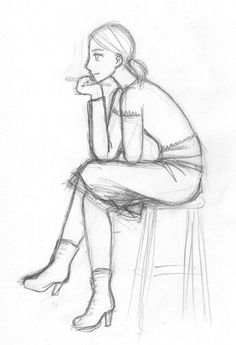 69 Trendy Drawing People Sitting Pose Reference Character