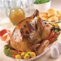 Cranberry-Apricot Onion Roasted Turkey Recipe on WeGottaEat