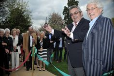 Golfing legend Tony Jacklin and the owner of Nailcote Hall Rick Cressman opening The Clubhouse
