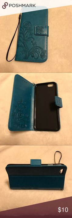 iPhone 6/6S case Leather and silicone wallet case, 2 slots for credit card and 1 slot for cash or bill, has a trap easy to carry. There are hot pink, brown, blue, black and grey colors. iPhone 5/5S/5C 6/6S 6/6Splus 7 and 7 plus. If you have any question, welcome to contact me. Accessories Phone Cases