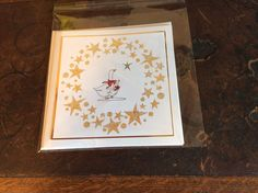 Clarity stencil, gilding flakes and Little Claire stamp.