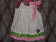Pink & Green Minnie Dress by CABCREATIONSHOPPE on Etsy, $20.00