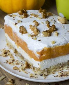 Pumpkin Pie Poke Cake | TheBestDessertRecipes.com