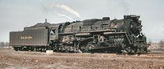 NKP No.57 Backing Toward Train