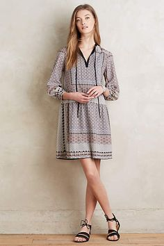 Tiled Dropwaist Dress - anthropologie.com