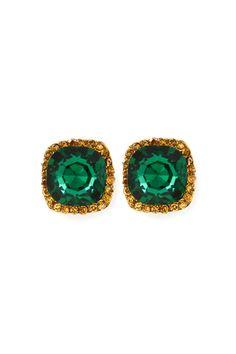 Emerald Stud Earrings.