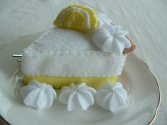 felt pie,really? Look at this site for ideas for more felt food-no patterns, but cool ideas.