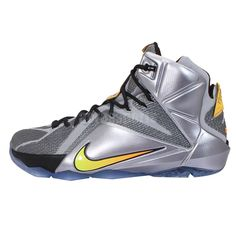 best website 48978 7ae62 Nike Lebron XII EP 12 Flight Lebron James Silver Orange Mens Basketball  Shoes http