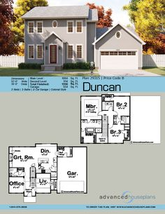"""Classic Colonial styling and a cost-effective """"footprint"""" makes this house plan an ideal choice for any neighborhood House Plans 2 Story, Sims House Plans, Best House Plans, Story House, Small House Plans, House Floor Plans, Colonial House Plans, Traditional House Plans, Craftsman House Plans"""