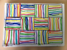 I'm using the concept to teach Vertical and Horizontal lines as well as Primary and Secondary Colors by using watercolor paints. -2nd grade