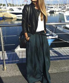Maxi skirt + short jacket
