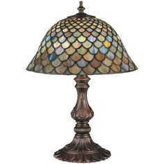 Fishscale 17 Table Lamp In 2020 Tiffany Table Lamps Lamp