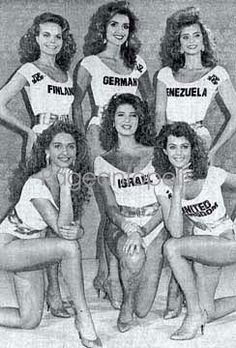 Miss World 1988: Photographers' choices: Finland, Nina Kiijärvi, Germany, Venezuela, Poland, Israel & United Kingdom