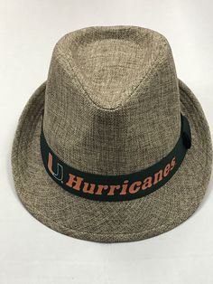 Miami Hurricanes Top of the World First Class Fedora Hat Miami Hurricanes, First Class, Top Of The World, Fedora Hat, First World, Hats, Fashion, Caps Hats, Moda