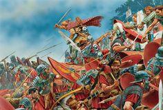 """Roman Soldier vs Germanic Warrior"" Peter Dennis. """