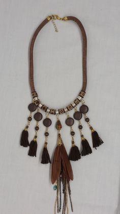 63 meilleures images du tableau colier pompon   Tassel jewelry, DIY ... 1c7bd7e8abc