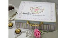 Decoupage tutorial - DIY.  How to decorate a tea box / keepsake box. Vin...