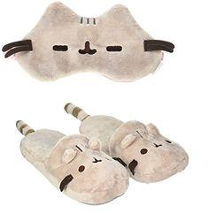 GUND Pusheen Sleep Mask and Slippers Combo