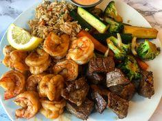 Hibachi at Home (Glam-I-Hana Surf n Turf) – The Glam Kitchen – Chicken Recipes Hibachi Recipes, Steak Recipes, Cooking Recipes, Shrimp Recipes, Shrimp Appetizers, Shrimp Dishes, Pork Dishes, Quick Recipes, Copycat Recipes