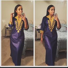 Dress Long African dress with pockets email; Habibicouture@gmail.com Dresses Long Sleeve