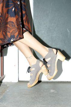 Isadora Clog on High Heel in Ash