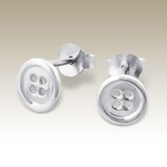 Sterling silver button earrings from Goulter-Bennetts on ebay