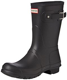 Hunter Women's Original Short Snow Boot, Black, 10 M US *** Want additional info? Click on the image.