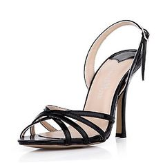 Patent Leather Women's Stiletto Heel  Open Toe Sandals Shoes  with Buckle (More Colors) – EUR € 59.99