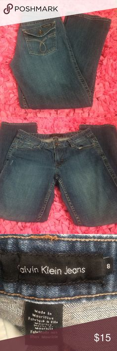 Calvin Klein Jeans Size 8. Bootcut. Good used condition. These look like they are crop length. I am adding measurements ASAP. 98% cotton. Calvin Klein Jeans Boot Cut