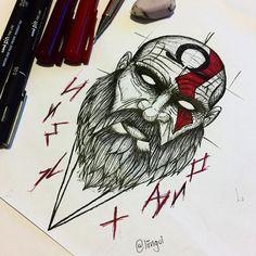 IN THE END, THERE WILL BE ONLY CHAOS! -Kratos. . . . . . . . . . . . #kratos #godofwar #gow #runes #deusdaguerra #tattoo #tattoos #tattooed…