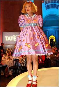 "Turner Prize winning artist Grayson Perry or as the BBC call him ""transvestite potter"""