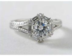 1/2 Carat Baguette Diamond Ring