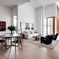 51 Contemporary Living Room Designs - Warm toned modern minimalist living room look