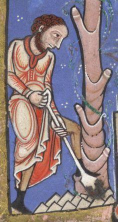 Hunterian Psalter c. 1170 digging - 1100–1200 in European fashion - Wikipedia