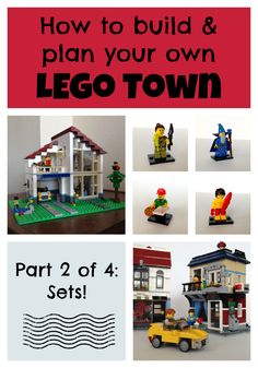 This is the second in a four part series about creating your own Town. While it is fun to create a building from scratch, it is also fun to include a set or two in your town. LEGO has some really fun sets. Arts And Crafts For Kids Toddlers, Lego For Kids, Lego Therapy, Fun Facts For Kids, Lego Display, Lego Club, Lego Boards, Lego Trains, Lego Modular