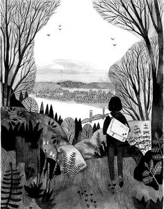 Illustrations from the Wildwood Chronicles. Written by Colin Meloy and illustrated by Carson Ellis.