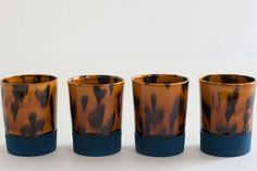 Quirky, printed glassware for all of your entertaining needs. Workaday Handmade Tortoise Shell Tumblers, $142, available at Of A Kind.