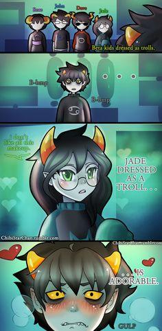 JadeKat Comic: Troll Dress-Up