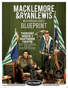 Macklemore & Ryan Lewis Poster – Hawthorne Concert Promo Flyer to advertise a concert by Macklemore & Ryan Lewis Poster at the Hawthorne Theatre in Portland Dream Music, Music Is Life, Promo Flyer, Concert Posters, Music Posters, Band Posters, Hipster Man, Free Youtube, Pinterest Marketing