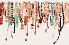 spring tie bracelets.