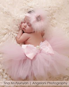 newborn (SET) tutu with headband and toe blooms, photo prop, baby girls, girls, first pictures on Etsy, $130.00