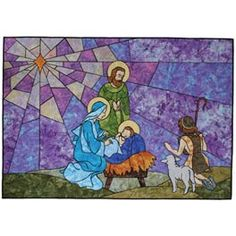 Holy Night Stained Glass Quilt