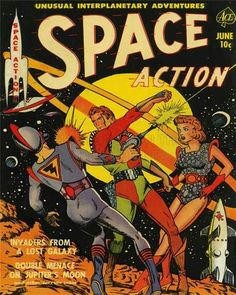 Comic Book Super Hero Cover Space Action 2 Vintage Retro Poster Print 1262PY | eBay